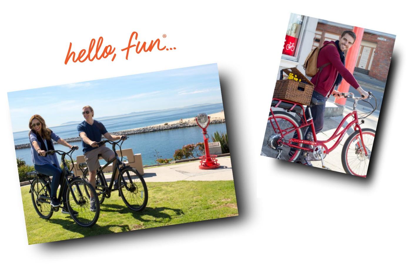 Hello Fun... riding your Pedego electric bike